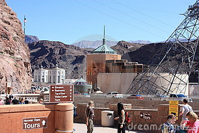 Tourists at Hover Dam Editorial Photography
