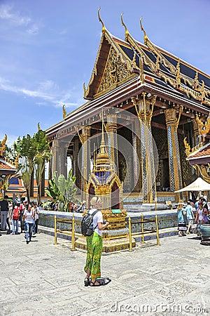 Free Tourists In Grand Palace, Bangkok Stock Image - 61973671