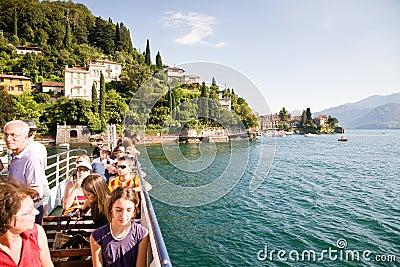 Tourists, Lake Como Editorial Photo
