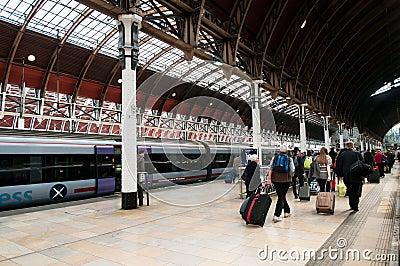 Tourists Leaving Paddington Station Editorial Stock Photo