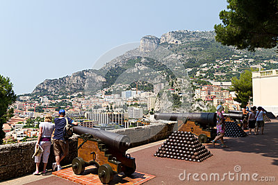 Tourists in Monaco Editorial Photography