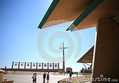 Tourists near Padre Pio Church, Italy Editorial Stock Image