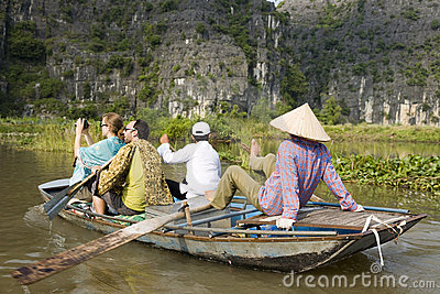 Tourists in Ninh Binh Editorial Image