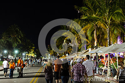 Tourists on ocean drive Editorial Photography