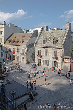 Tourists in Old Quebec Editorial Photography