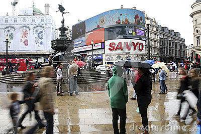 Tourists in Piccadilly Circus, 2010 Editorial Image