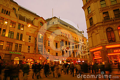 Tourists in Piccadilly Circus, 2010 Editorial Photo