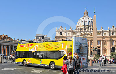 Tourists in Rome Editorial Image