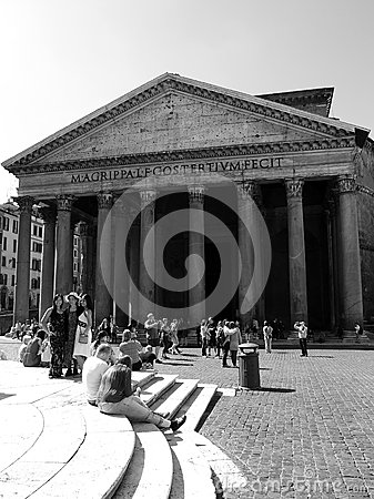 Tourists in Rome Editorial Stock Photo
