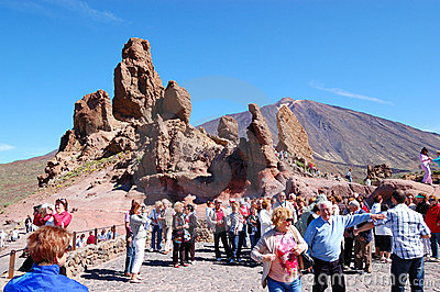 The tourists on a sightseeing area Editorial Stock Image