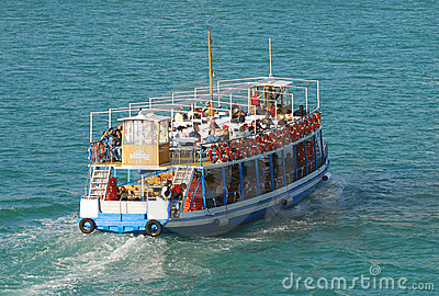 Tourists on sightseeing boat Editorial Photo