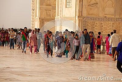 Tourists at the Taj Mahal Editorial Photography