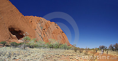 Tourists on Uluru Base Walk Editorial Image