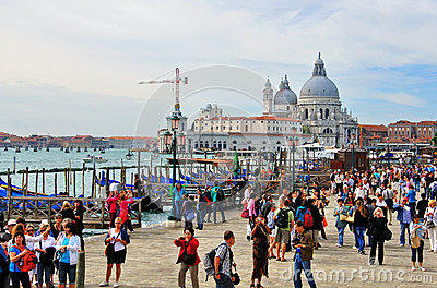 Tourists in Venice Editorial Image