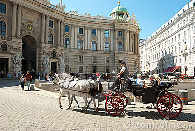 Tourists in Vienna Editorial Stock Image