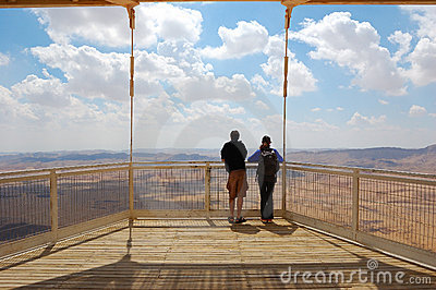 Tourists Viewing Canyon, Israel