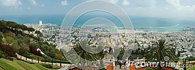 Tourists visit famous Bahai shrine,Haifa Editorial Stock Image