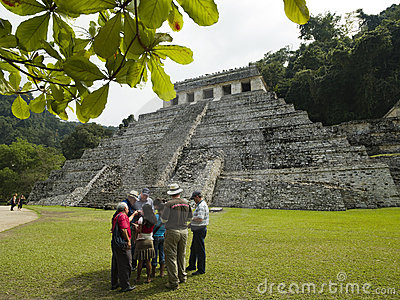 Tourists visit Palenque Mexico Editorial Photo