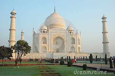 Tourists visiting  the Taj Mahal monument listed as UNESCO World Heritage Site ,India Editorial Photography