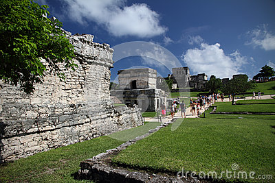 Tourists visiting Tulum, Mexico Editorial Stock Image