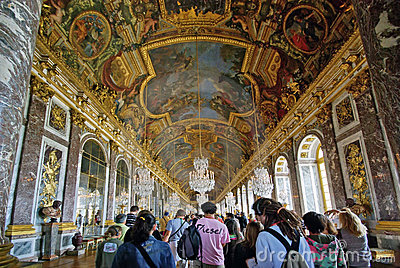 Tourists visiting Versailles Palace Editorial Stock Photo