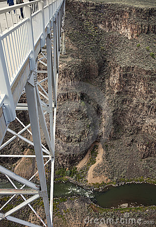 Tourists walking Rio Grande Gorge Bridge