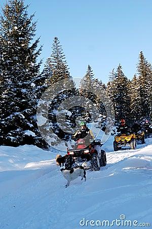 Tourists in winter season