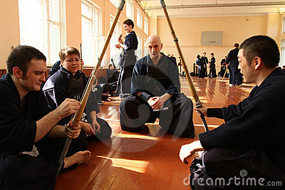 Tournament on Kendo Editorial Photography