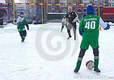 Tournament on minifootball Editorial Image