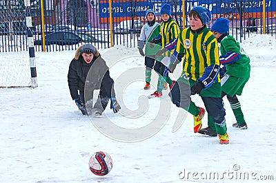 Tournament on minifootball Editorial Photo