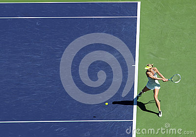 Maria Sharapova at Indian Wells 2013 Editorial Photo