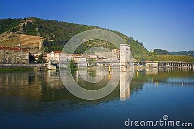Tournon, Rhone River, France