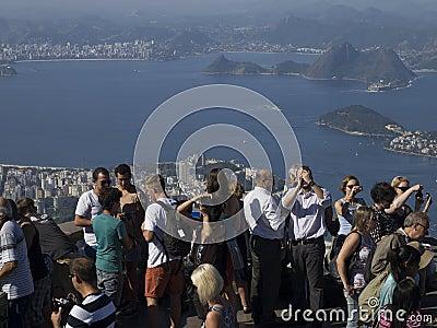 Toursits in Rio de Janeiro Editorial Photo