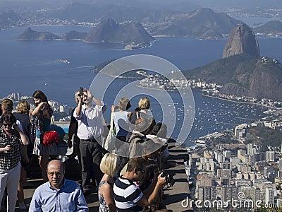 Toursits in Rio de Janeiro Editorial Stock Image