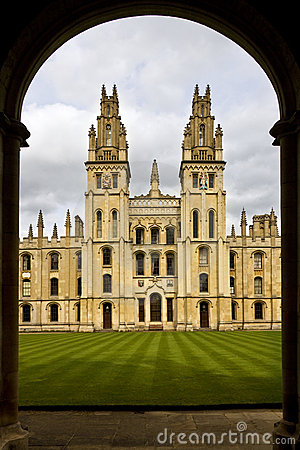 Toute l université d âmes - Oxford - Angleterre Photo stock éditorial