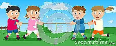 Touwtrekwedstrijd in het Park