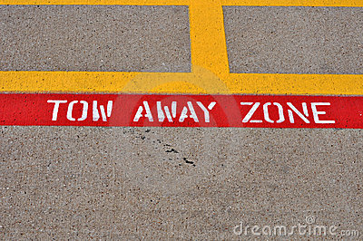 Tow away zone