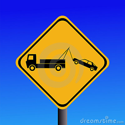 Free Tow Away Zone Sign Royalty Free Stock Photo - 4983265