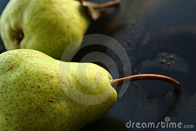 Tow pears fruits