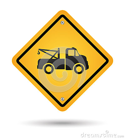 Free Tow Road Sign Stock Image - 26950441