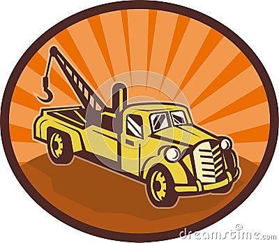 tow truck wrecker pick-up truck