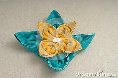 Towel arrange  flower