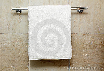 Towel on a hanger