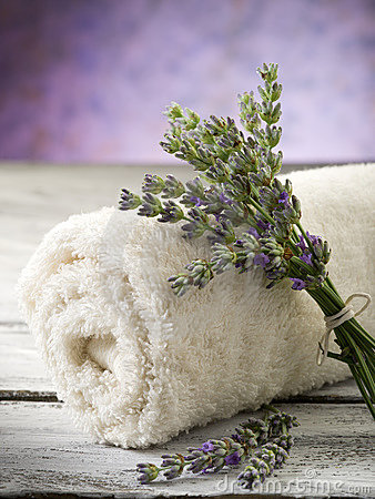 Towel with lavender