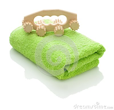 Towel and massager