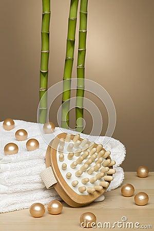 Towel, spa and bamboo
