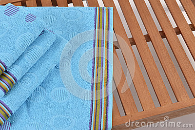 Towel on sunbed