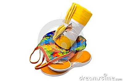 Towel Swimsuit Glasses Shoes