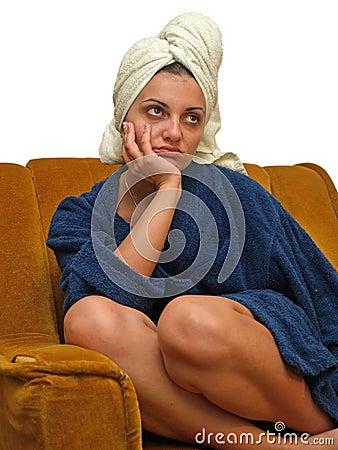 Free Towel Woman 7 Royalty Free Stock Photo - 3049175