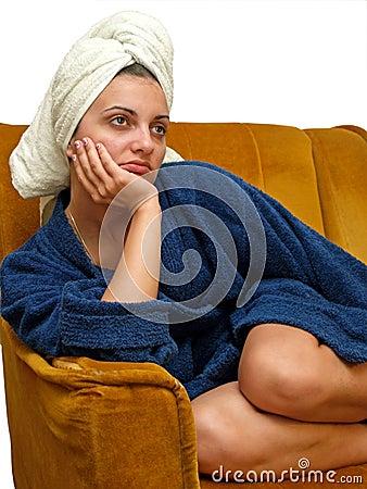 Free Towel Woman 8 Royalty Free Stock Photo - 3049185